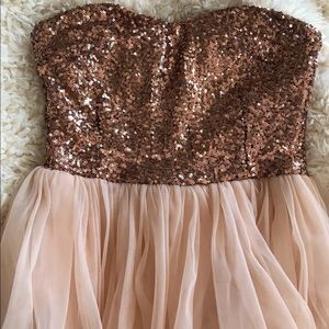 Dresses & Skirts - Pink & copper / tulle & sequin dress